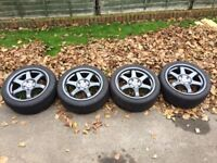 NEW ROTA GRID STYLE WOLFRACE ALLOY WHEELS WITH TYRES 5x114.3 HONDA CIVIC EP3 LEXUS TOYOTA JAPANESE