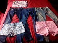 Girls levis jeans/HM jeans/shorts/onzie