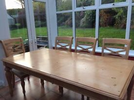 Dining Table and 8 matching chairs