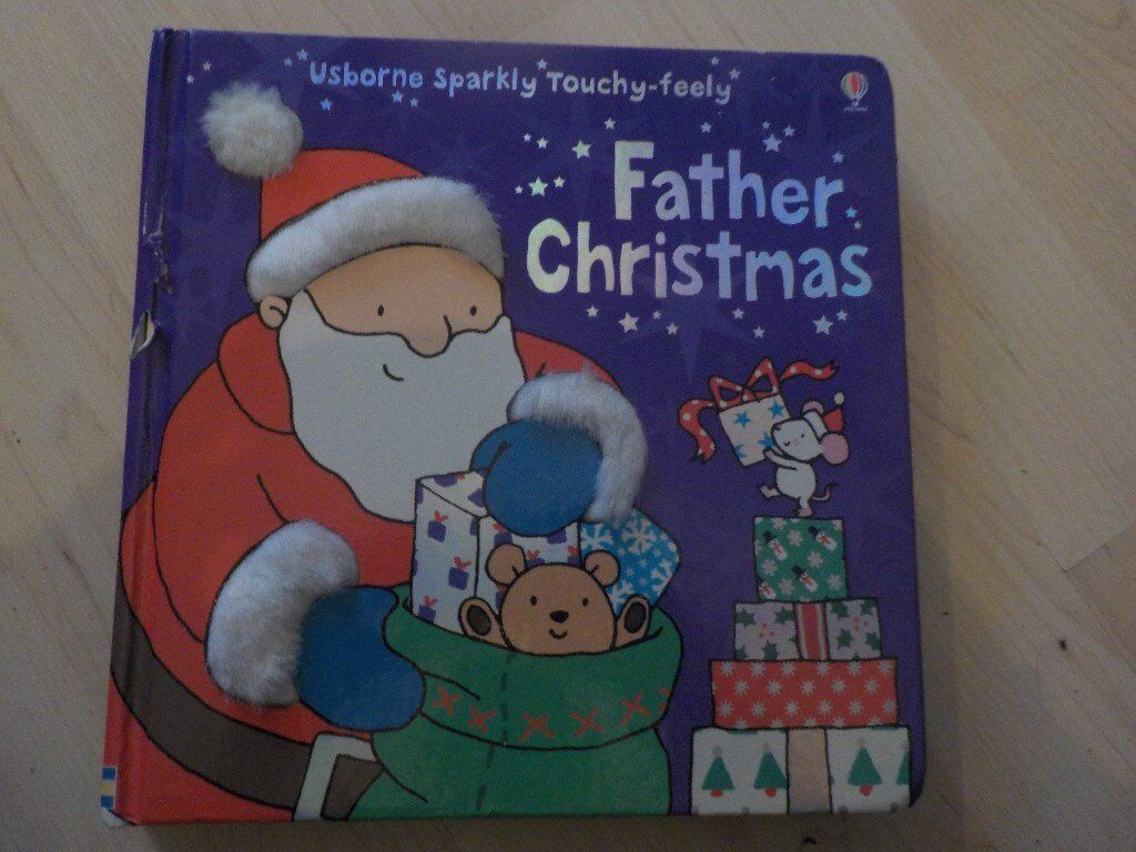 Large Hard Backed Usborne Sparkly Touchy-feely Father Christmas Book