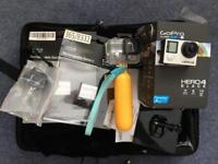 GoPro Hero 4 Black Edition - 3 x batteries, huge case of attachments, 64gb memory card, underwater