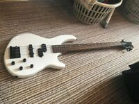 Dean Edge Bass Guitar 4 String White Active Pick Ups