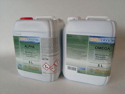 dinotec NOVA CRYSTAL, chlorfreie Wasserpflege Alpha+Omega, je 5 l (1 l =28,80 €)