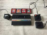 Atari 2600 with 4 games and 2 controllers