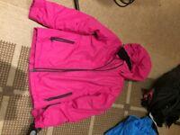 Crane Pink Ski Jacket Size 13/14 with free ski gloves