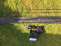 Carp rod and reel. Saber