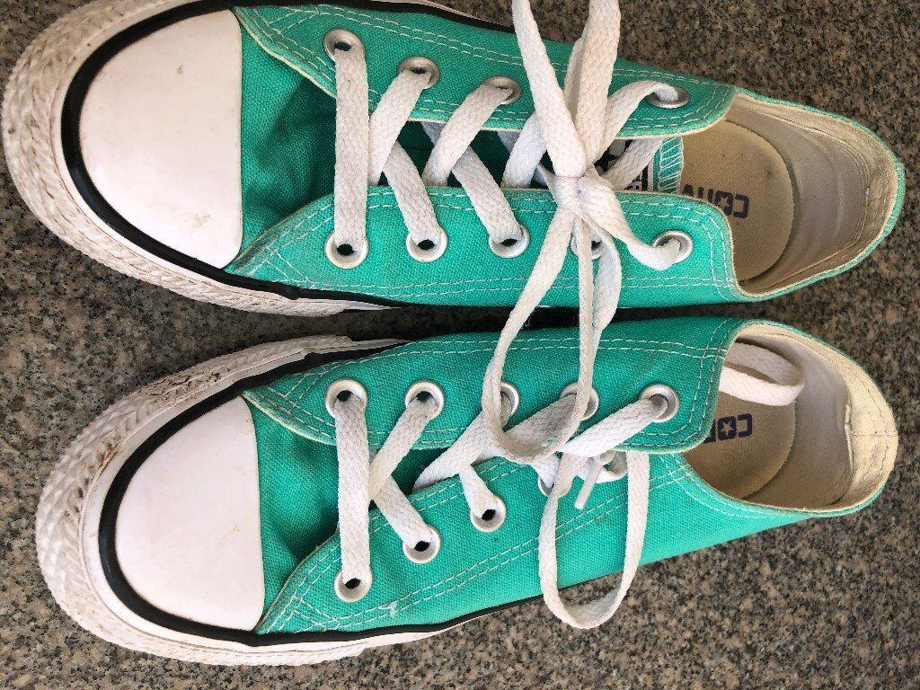 Converse Trainers - Mint Green Size 4 UK Adults - Excellent Condition ... 15ec5f8d7