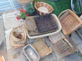 lots of storage baskets