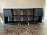 IKEA Kallax Storage Shelving Unit Black Brown