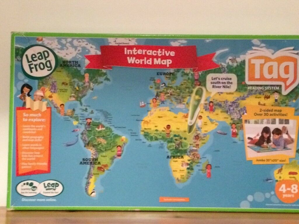 Leapfrog Interactive World Map.Leapfrog Tag Interactive World Map In South Shields Tyne