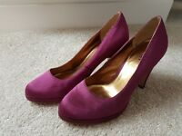Faith pink-purple high-heeled shoes UK size 6 (39)