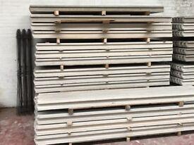 Concrete fence post, gravel boards, fence panels
