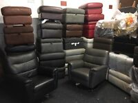 New/Ex Display ScS, Dfs, Footstools, Leather, Fabric, Ottoman
