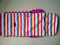 John Lewis striped buggy cosy