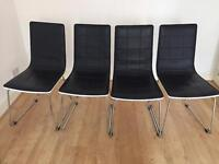 Four dinning chairs. Retro style.