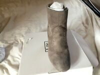 Block heel ankle boots in Grey. Side zip. Size 6 E fit. Boxed never been worn.