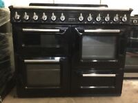 Smeg range dual fuel gas cooker TR4110BL black 110cm FSD 3 months warranty free local delivery!!!!!