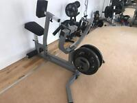 Plate Loaded Back Lats Row Machine