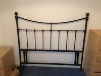King Size Black Metal Headboard in excellent condition Bargain at £10