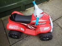 Childs 6volt quad bike c/w charger.
