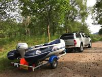 2008 Honwave 3.8 IE Air Deck, 20hp Honda Outboard and Trailer SIB