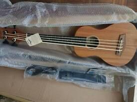 Fretless electric acoustic ukulele bass guitar, like Kala u bass
