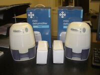 2x Mini 250ml Dehumidifiers