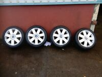 "FORD 17"" ALLOYS AND TYRES 5 X 108 MONDEO FOCUS CONNECT"
