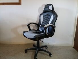 Office Massage Chair Heated Vibrating Computer Gaming Chair Racing Car Seat