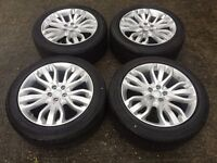 """21"""" GENUINE RANGE ROVER SPORT AUTOBIOGRAPHY ALLOY WHEELS AND TYRES INCLUDES TPMS"""