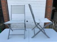 X2 folding garden chairs