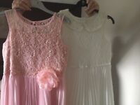 Dresses pink and white