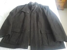 Mens John Rocha Brown wool mix coat size XXL