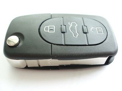 Replacement 3 button flip key fob case kit for Audi A3 A4 A6 A8 TT remote key