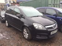 VAUXHALL ZAFIRA, BREAKING FOR SPARES,