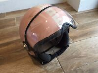 Momo motorbike/scooter helmet, matt pink, size S, in good condition