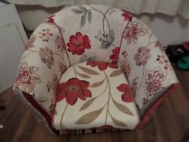 club chair , newly upholstered,