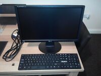 "LG 19"" Flatron monitor + wireless keyboard."
