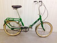 Vintage folding bike in stunning condition , lightweight easily foldable