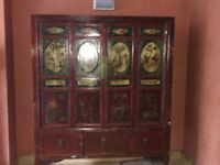 Late 19th / Early 20th century original antique painted Chinese cabinet