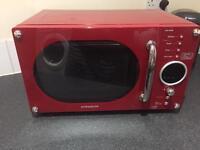 Red Daewoo 800w Microwave