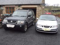 Mitsubishi Warrior and Saab Convertible both for sale. See below for description / price.