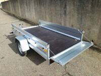 SINGLE AXLE TRAILER 750 kg CAMPING CAR TRAILER 8,6FT x 4,4FT OPEN