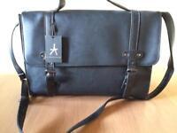 New smart black hand shoulder bag / satchel for school or office