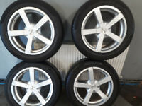 4 fox alloys with new tyres great condition 225/55/17