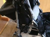 Marco black and grey tandem pushchair