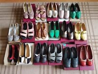 17 pairs of shoes used size 5