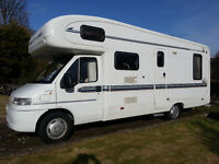 2000 Autotrail Cheyenne. 6 berth. Fiat Ducato 2.8TD Excellent condition. New engine. Solar panels.