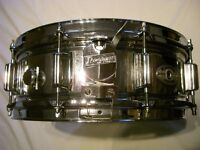 """Rogers Super 10 steel snare drum - 14 x 5 1/2"""" - USA - '73-'76 - 10 lugs"""