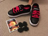 As New heelys black and red size 1